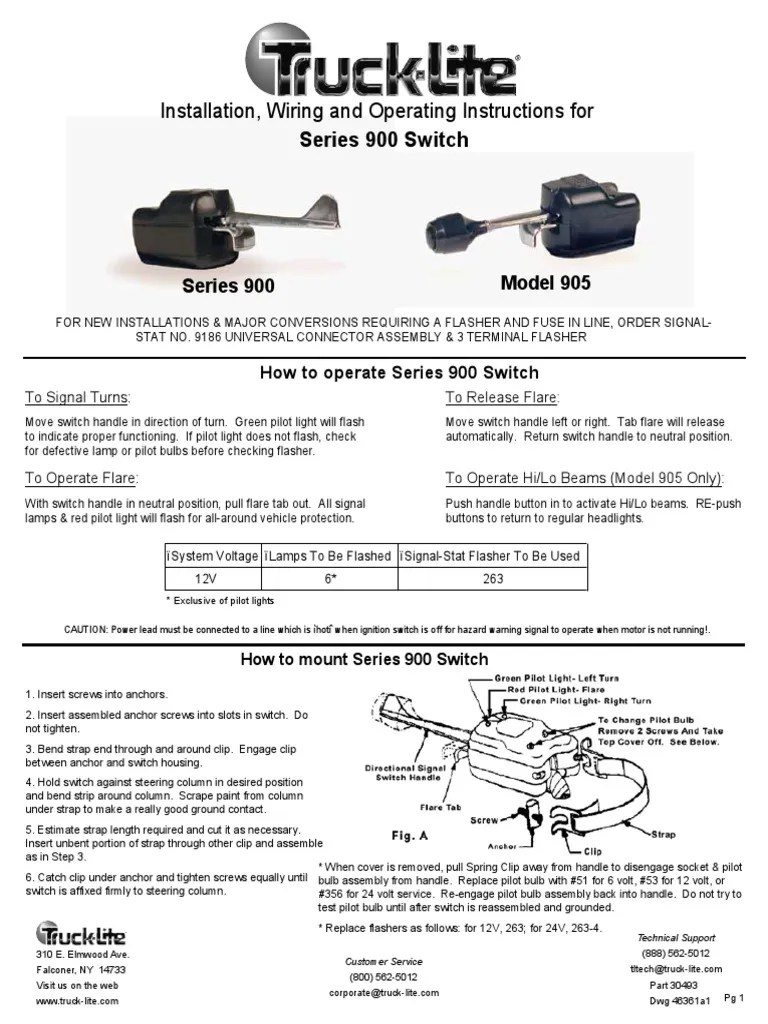 truck light series 900 switch switch electrical wiring rh pt scribd com signal stat 900 sigflare [ 768 x 1024 Pixel ]